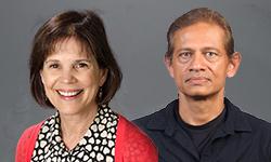 Rajesh Miranda and Tina Chambers